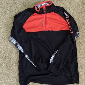 Reebok 1/4 zip pull over EUC